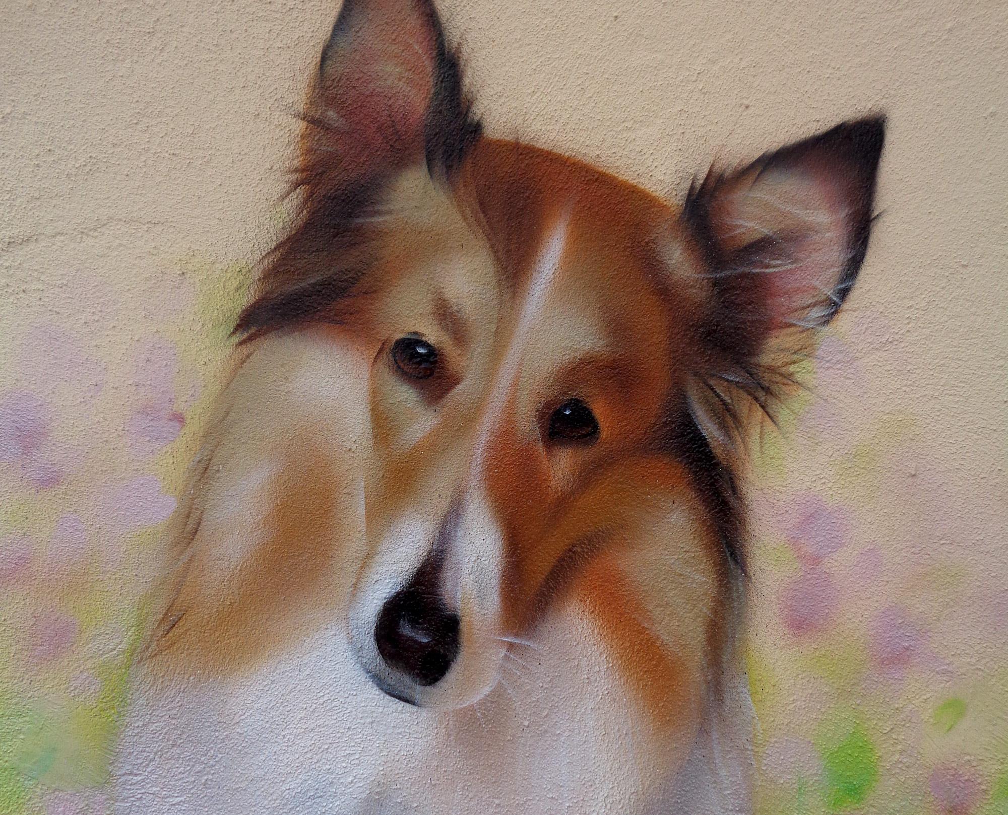 Graffiti Hunde Portrait