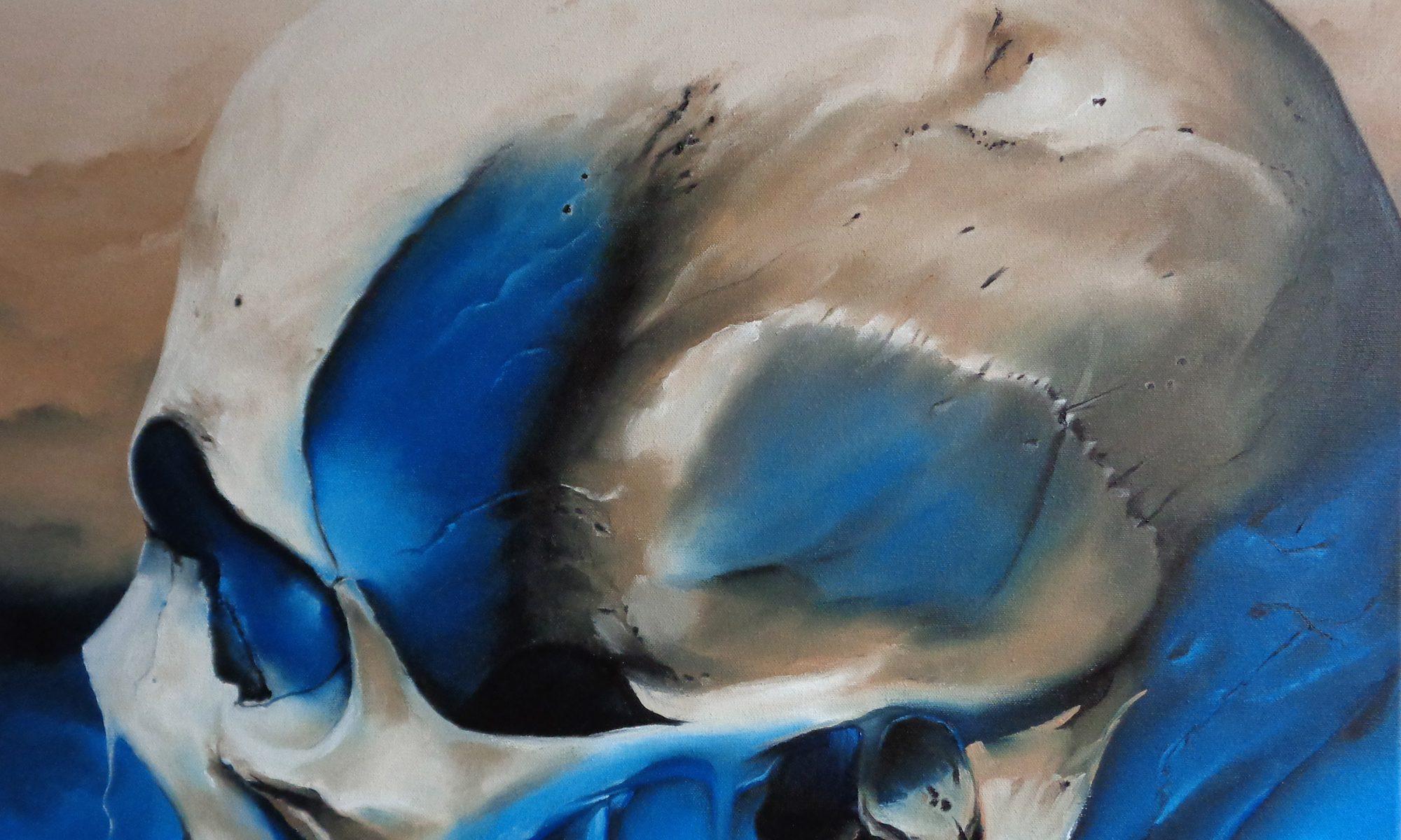Ölmalerei Skull Leinwand