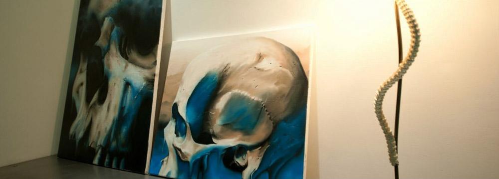 Skull Oil Painting