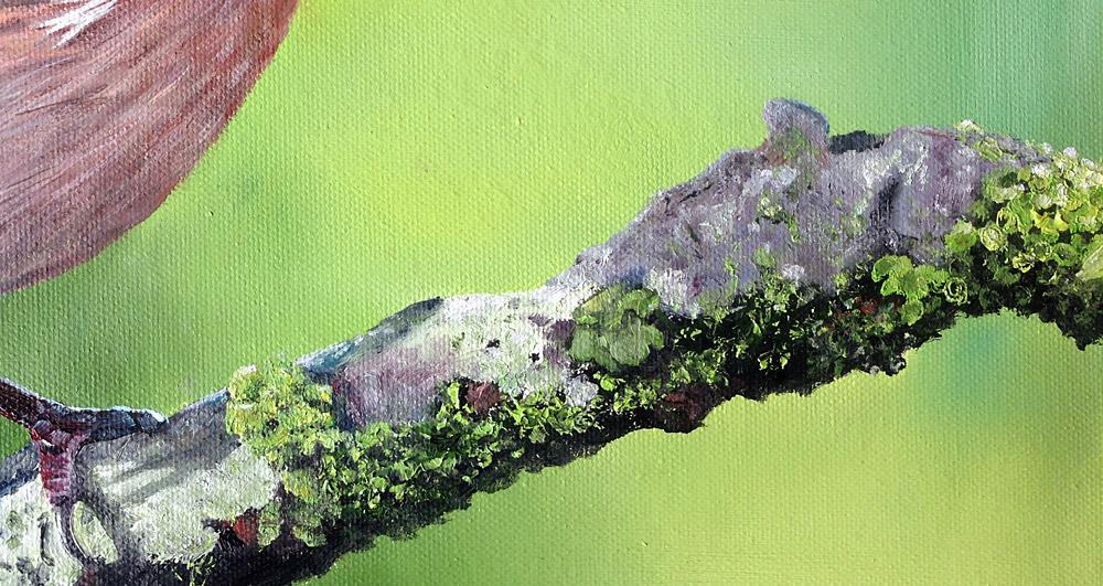 Buchfink Ölmalerei