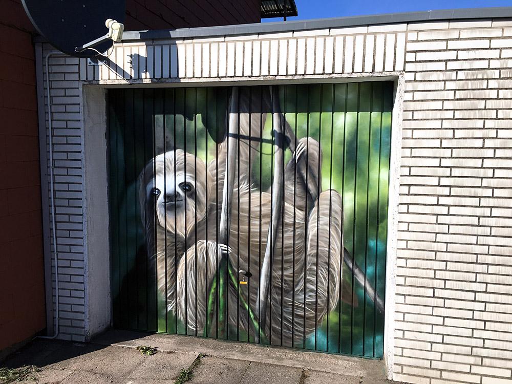 Graffiti Garagentor Gestaltung