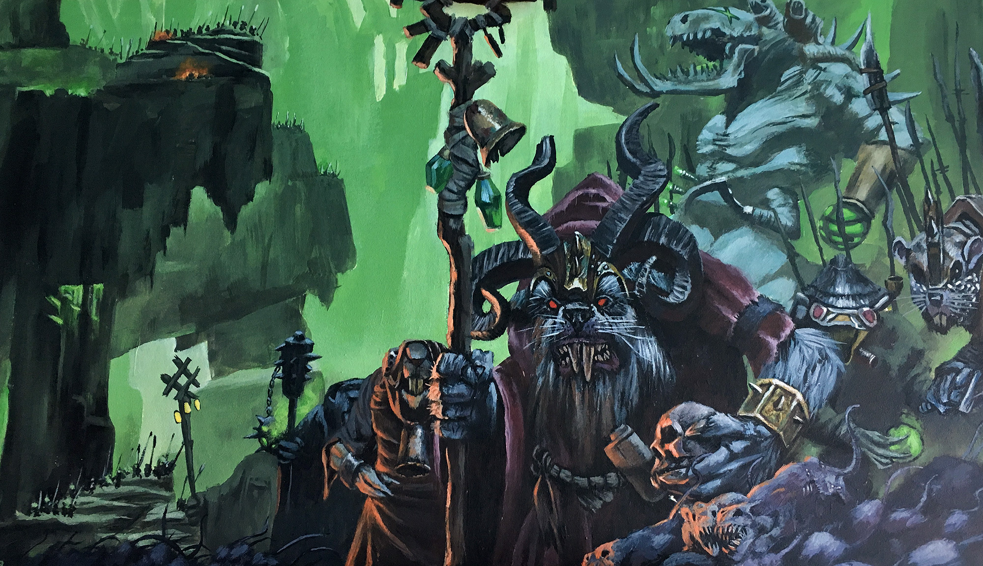Skaven acrylic painting